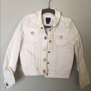 Gap kids white jean jacket sz XS